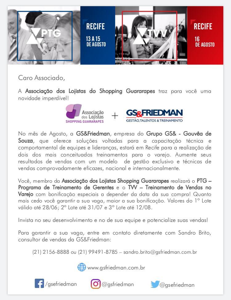088b45d37f13 Associação de Lojistas do Shopping Guararapes